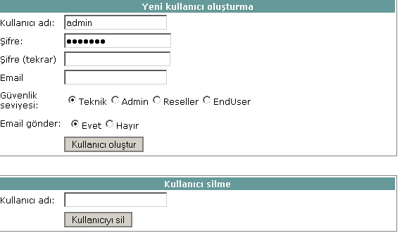Yeni Kullanıcı