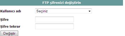 ftp şifre