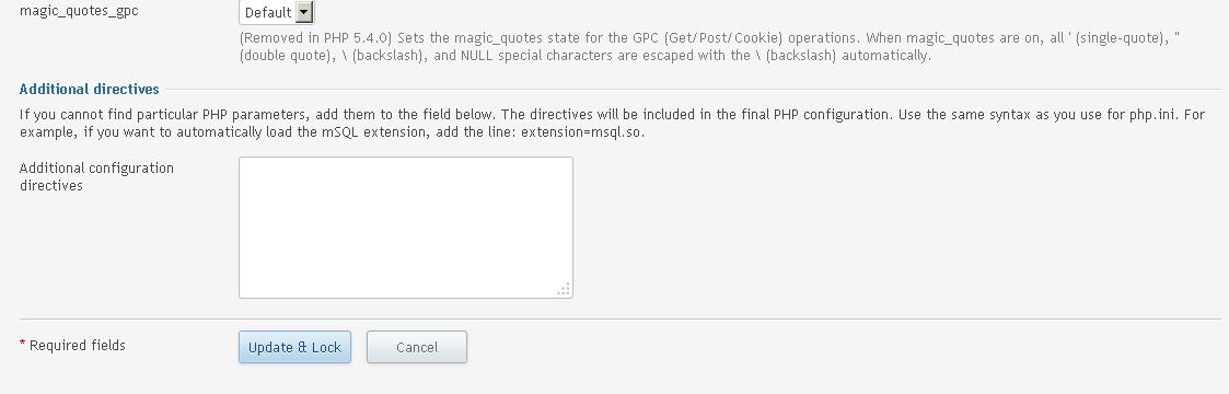 php settings 7