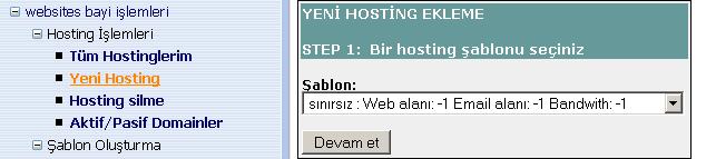 yeni hosting