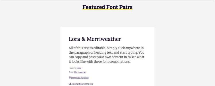 FontPair