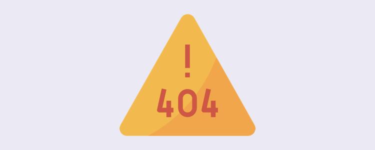 404 Not Found (Sayfa Bulunamadı Hatası)